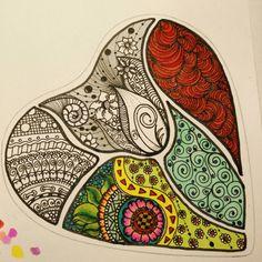 Heart for pic #mytangle  #workinprogress  #zentangle #tangle #myart #picofday #photooftheday #goodmorning  #buongiorno