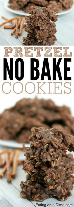Try this pretzel no bake cookie recipe where we combine the delicious salty pretzel with the already loved no bake cookie with old fashioned oats recipe. You will love this peanut butter no bake cookies with the surprise pretzels inside!