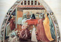 Paolo Uccello. Fresques de Prato. La naissance de la Vierge (v. 1435)
