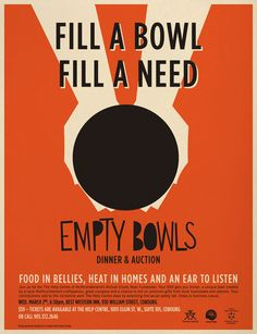 Empty Bowls - so badly want to do this