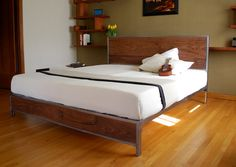 The Early Century Bed  King Size by deliafurniture on Etsy, $1400.00