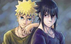 Naruto Uzumaki, characters, Sasuke Uchiha, manga, Naruto