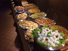 Ricco buffet per festa di 50 anni.
