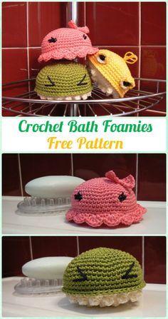 Crochet Bath Foamies Free Pattern - Crochet Spa Gift Ideas Free Patterns