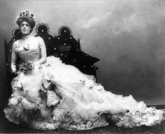 """First Lady of the American Theater"" actress Ethel Barrymore (1879-1959)  from the production of Captain Jinks of the House Marines, ca. 1901.  Ethel was the grand-aunt of actress Drew Barrymore."