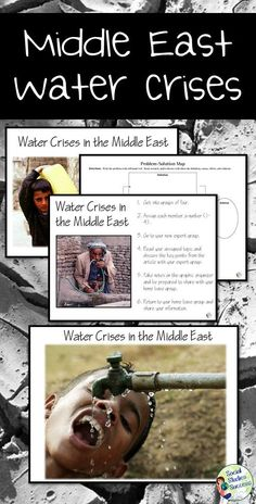 Water is more valuable than gold! Do your students know the impact that water  or the lack of it  is having on life in the Middle East? In this activity, students will work in groups of 4 to research the Middle East water crises. In expert groups, stude