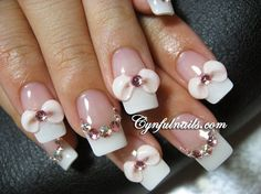 French Tip With Bows
