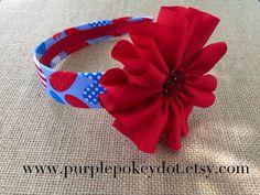 Fourth of July Headband by PurplePokeyDotShop on Etsy
