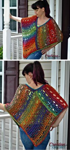 100 Free Crochet Shawl Patterns - Free Crochet Patterns - Page 9 of 19 - DIY & Crafts Crochet Poncho Patterns, Crochet Shawls And Wraps, Shawl Patterns, Crochet Scarves, Crochet Hats, Crochet Shrugs, Crochet Sweaters, Sewing Patterns, Cooler Look