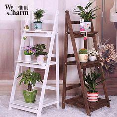 Plant Stands, Ladder Bookcase, Carpentry, Ladder Decor, Backyard, Shelves, American, Plants, Diy