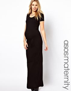 Image 1 of ASOS Maternity Maxi Dress With  T-Shirt Sleeve
