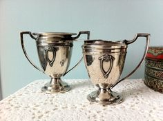 Silver plate trophies