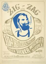 Big Brother and the Holding Co, Quicksilver Messenger: Zigzag Man poster