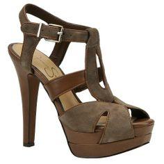 Jessica Simpson Barret Women's Sandal 10 B(M) US Charcoal-Suede