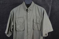 Guides Choice mens 2XL XXL OD Green Nylon Fishing Shirt FREE SHIPPING #GuidesChoice #ButtonFrontShirt