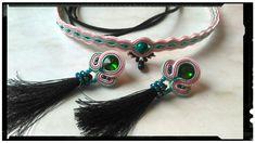Soutache set - earrings and choker