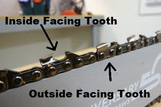 Inside and Outside Facing Cutting Teeth