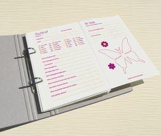 Poesiealben - Freundebuch-Seiten für Mädchen - ein Designerstück von feb-factory bei DaWanda