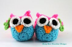 Little Owl Baby Booties by littlebits101
