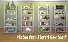 The Sims 4   The Idle Sim: Decluttered Raw Bookshelf with more slots   buy mode base game display