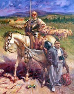 Don Quijote y Sancho turista