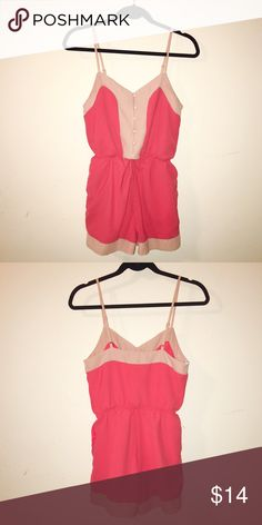 Papaya romper with pockets Like new condition. 100% polyester. Make me an offer OR bundle at least 3 items from my closet for savings!! :) Papaya Other