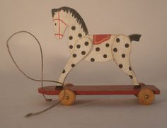 Pull Horse by Veronique Bailleul - $99.50 : Swan House Miniatures, Artisan Miniatures for Dollhouses and Roomboxes