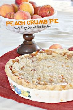 Postres - Desserts - Peach Crumb Pie | Can't Stay Out of the Kitchen | fabulous This one uses a #homemadepiecrust.