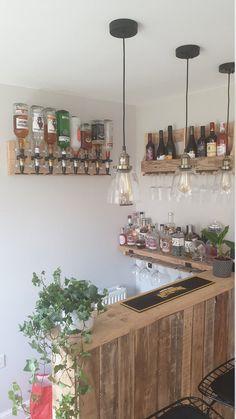 Home Bar Rooms, Home Bar Areas, Diy Home Bar, Home Bar Decor, Bars For Home, Bar Interior, Restaurant Interior Design, Garden Bar Shed, Summer House Garden