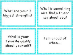 Self-Esteem and Positive Thinking Task Cards - Distance Learning Self Esteem Activities, Counseling Activities, Therapy Activities, School Counseling, Team Activities, Positive Self Esteem, Positive Self Talk, Positive Quotes, Positive Things
