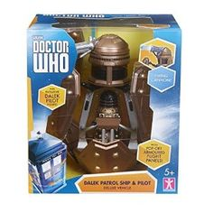 Amazon.com: Doctor Who Dalek Security Patrol Ship - Includes Dalek Pilot and Working Cannon: Toys & Games