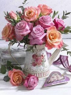 Beautiful Flower Arrangements, Pretty Flowers, Floral Arrangements, Exotic Flowers, Purple Flowers, Deco Floral, Arte Floral, Diy Artwork, Rose Embroidery