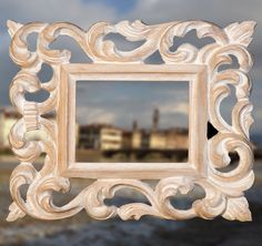 Small frame in hand carved wood FLORENTINE BAROQUE Shabby Chic Florence (for sheets max 12x9.5cm = 4,72x3,74 inches) Shipping Costs Included