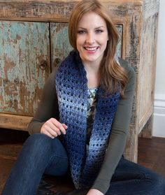 Jeans Worthy Cowl Free Crochet Pattern from Red Heart Yarns