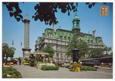 Postcards - Canada # 183 - Montreal City Hall