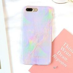 Colorful Granite Marble iPhone Case - Purple - Green / iPhone 6s / 6