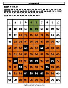 JACK-O-LANTERN HUNDREDS CHART PICTURE ACTIVITY FOR HALLOWEEN OR FALL MATH - TeachersPayTeachers.com