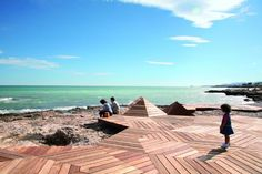 """GUALLART ARCHITECTS - Southern Spain    """"The coves and points appear at first sight to be far removed from the ideal 'virgin' state of what could be described as natural. On the small scale, however, it becomes clear that this sequence of coves and outcrops, micro-inlets, pools of seawater, stones eroded by the sea and rocks shaped by the tide has an exceptional beauty."""" #wood #architecture #spain"""