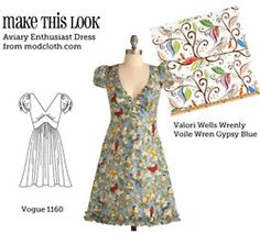 website matching off the rack dresses with sewing patterns. I need to learn how to sew!