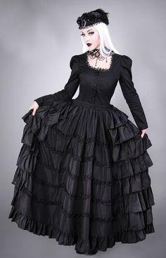 Restyle Gothic Lolita Rock Rüschen Reifrock Steampunk Ruffles Vintage Skirt