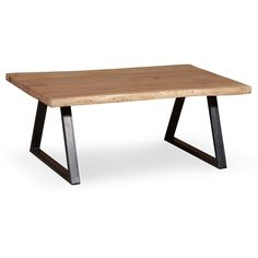 This Industrial Coffee Table Is Made Out Of Solid WoodIt Has A Vintage