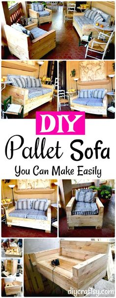 DIY wooden pallet sofa set, made for part sitting and to enjoy family get together! This hand-built pallet sofa set is self-explanatory in design and
