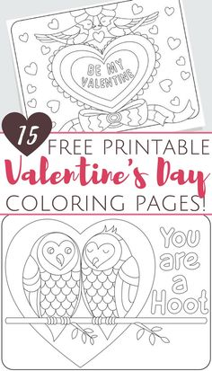 Printable Valentine Coloring Pages For Kids | Cool2bKids | Holiday ...