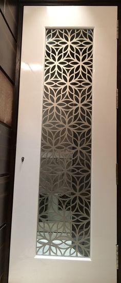 Custom made Laser Cut Grill for Main Door in MS for a residential project…