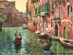 Oil Painting of Venice Street (P5)