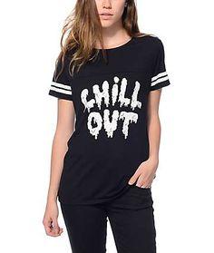 JV By Jac Vanek Sherman Chill Out Black T-Shirt