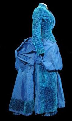 Day dress, 1884, Modes et Parures.