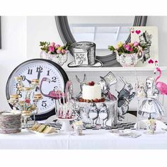 Alice Tea Party Buffet Treat Stand will be a delightful, intricate and show stopping center piece for your Alice Wonderland themed party! Featuring all of Ali