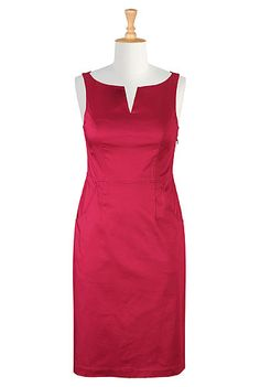 Split neck sheath dress can have sleeves added!