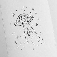 This but coffee instead of pizza astronautas, pinturas, bocetos, dibujar arte, pintura Alien Drawings, Doodle Drawings, Drawing Sketches, Pencil Drawings, Cool Drawings Tumblr, Funny Drawings, Cool Easy Drawings, Pizza Drawings, Space Drawings